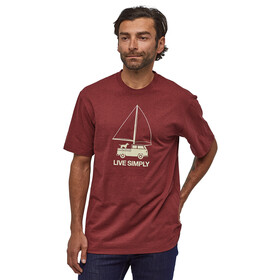 Patagonia Live Simply Wind Powered Responsibili-Tee Herr oxide red